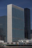 The United Nations Building rises above the New York skyline as viewed from the East River. Manhattan, New York City, New York, USA. Image #11131