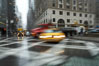 Crazy taxi ride through the streets of New York City. Manhattan, USA. Image #11196