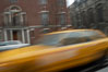 Crazy taxi ride through the streets of New York City. Manhattan, USA. Image #11197