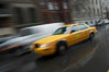 Crazy taxi ride through the streets of New York City. Manhattan, USA. Image #11198
