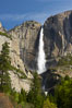 Yosemite Falls at peak flow in late spring, viewed from Cooks Meadow. Yosemite Falls, Yosemite National Park, California, USA. Image #12631