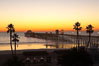 Oceanside Pier at dusk, sunset, night.  Oceanside. California, USA. Image #14629