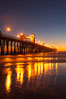 Oceanside Pier at dusk, sunset, night.  Oceanside. California, USA. Image #14642