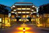 UCSD Library glows at sunset (Geisel Library, UCSD Central Library). University of California, San Diego, La Jolla, USA. Image #14777