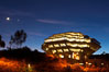 UCSD Library glows at sunset (Geisel Library, UCSD Central Library). University of California, San Diego, La Jolla, USA. Image #14784