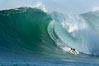 2006 Mavericks surf contest champion Grant Twiggy Baker of South Africa.  Final round, Mavericks surf contest, February 7, 2006. Mavericks, Half Moon Bay, California, USA. Image #15299
