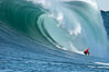 Tyler Smith, final round, Mavericks surf contest (second place), February 7, 2006. Mavericks, Half Moon Bay, California, USA. Image #15301