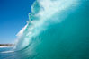 Wave breaking, tube, Newport Beach. Newport Beach, California, USA. Image #16802