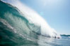 Wave breaking, tube, Newport Beach. Newport Beach, California, USA. Image #16803
