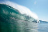 Wave breaking, tube, Newport Beach. Newport Beach, California, USA. Image #16805