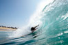 Bodysurfing at the Wedge in Newport Beach. The Wedge, Newport Beach, California, USA. Image #16990