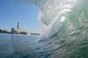 Jetties, Carlsbad, morning surf. Warm Water Jetties, Carlsbad, California, USA. Image #17913