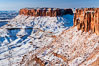 Canyonlands National Park, winter, viewed from Grandview Point.  Island in the Sky. Canyonlands National Park, Utah, USA. Image #18097