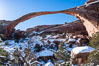 Landscape Arch in winter. Landscape Arch has an amazing 306-foot span. Landscape Arch, Arches National Park, Utah, Utah, USA. Image #18115