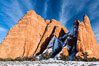 Fins.  The vertical slabs of Entrada sandstone may become natural sandstone arches. Arches National Park, Utah, Utah, USA. Image #18187
