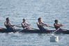 Cal (UC Berkeley) men's collegiate novice crew on their way to winning the Derek Guelker Memorial Cup, 2007 San Diego Crew Classic. Mission Bay, San Diego, California, USA. Image #18645