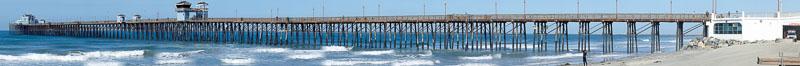 Oceanside Pier panorama. California, USA