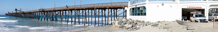 Oceanside Pier panorama. California, USA. Image #19523