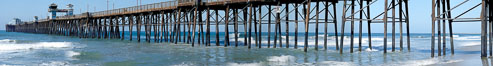 Oceanside Pier panorama. California, USA. Image #19524