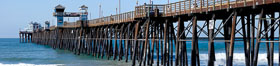 Oceanside Pier panorama. California, USA. Image #19525
