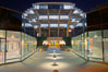 UCSD Library glows with light in this night time exposure (Geisel Library, UCSD Central Library). University of California, San Diego, La Jolla, USA. Image #20143
