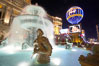 Fountain at night, Paris Hotel. Las Vegas, Nevada, USA. Image #20563