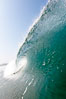 Breaking wave, morning surf, curl, tube. Ponto, Carlsbad, California, USA. Image #20887