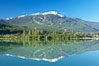 Green Lake, with Whistler Mountain in the distance. British Columbia, Canada. Image #21004