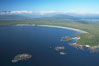 Ahouse Bay and Vargas Island, aerial photo, Clayoquot Sound in the foreground, near Tofino on the west coast of Vancouver Island. British Columbia, Canada. Image #21068