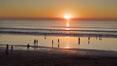 Moonlight Beach at sunset. Moonlight Beach, Encinitas, California, USA. Image #21793