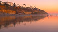 Moonlight Beach at sunset. Moonlight Beach, Encinitas, California, USA. Image #21794