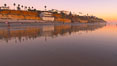 Moonlight Beach at sunset. Moonlight Beach, Encinitas, California, USA. Image #21796