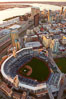 Downtown San Diego and Petco Park, viewed from the southeast. California, USA. Image #22300