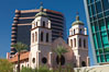 St. Mary's Basilica, in downtown Phoenix adjacent to the Phoenix Convention Center.  The Church of the Immaculate Conception of the Blessed Virgin Mary, founded in 1881, built in 1914, elevated to a minor basilica by Pope John Paul II in 1987. Phoenix, Arizona, USA. Image #23178
