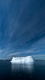 Iceberg, clouds and sky, Antarctica. Antarctic Sound, Antarctic Peninsula, Antarctica. Image #24785