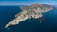 Aerial photo of Catalina Island, West End. Catalina Island, California, USA. Image #25978