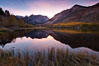 Sunset on North Lake in the eastern Sierra Nevada, autumn. Bishop Creek Canyon Sierra Nevada Mountains, Bishop, California, USA. Image #26054