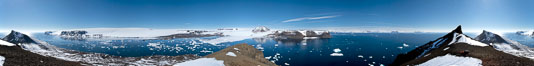 Panorama of Devil Island in Antarctica. Antarctic Peninsula. Image #26303