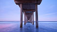 Scripps Pier, sunrise. Scripps Institution of Oceanography, La Jolla, California, USA. Image #26428