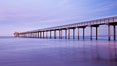 Scripps Pier, sunrise. Scripps Institution of Oceanography, La Jolla, California, USA. Image #26429