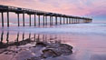 Scripps Pier, sunrise. Scripps Institution of Oceanography, La Jolla, California, USA. Image #26430