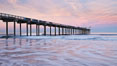 Scripps Pier, sunrise. Scripps Institution of Oceanography, La Jolla, California, USA