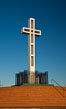 The Mount Soledad Cross, a landmark in La Jolla, California. The Mount Soledad Cross is a 29-foot-tall cross erected in 1954. La Jolla, California, USA. Image #26546