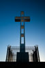 The Mount Soledad Cross, a landmark in La Jolla, California. The Mount Soledad Cross is a 29-foot-tall cross erected in 1954. La Jolla, California, USA. Image #26549