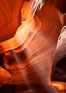 Upper Antelope Canyon slot canyon. Navajo Tribal Lands, Page, Arizona, USA. Image #26624