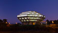 UCSD Library glows at sunset (Geisel Library, UCSD Central Library). University of California, San Diego, San Diego, California, USA. Image #26911