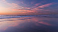 Beautiful sunset on Torrey Pines State Beach. Torrey Pines State Reserve, San Diego, California, USA. Image #27252