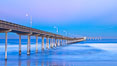 Ocean Beach Pier, also known as the OB Pier or Ocean Beach Municipal Pier, is the longest concrete pier on the West Coast measuring 1971 feet (601 m) long. San Diego, California, USA. Image #27390