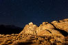 Alabama Hills and stars at night. Alabama Hills Recreational Area, California, USA. Image #27621