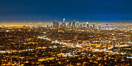 Downtown Los Angeles at night, street lights, buildings light up the night. Los Angeles, California, USA. Image #27724